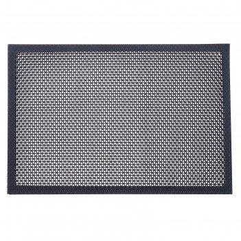 Коврик резиновый 40х60 см h=4,5 мм «твист» цвет черный