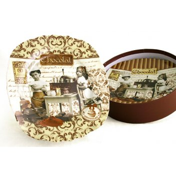 Набор из 4-х тарелок любители шоколада