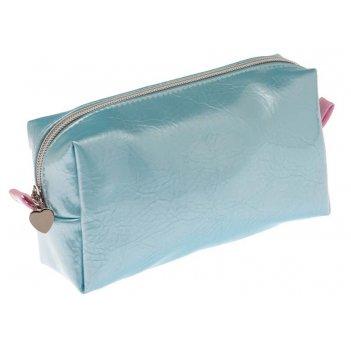 Косметичка dewal beauty серия морской бриз, голубая с розовым 19х10х6см