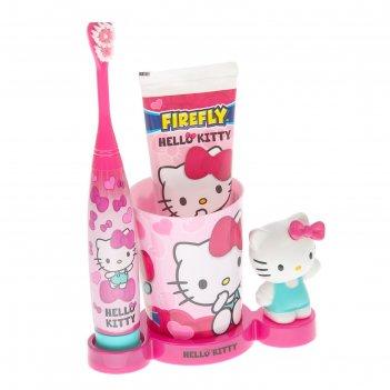 Набор hello kitty hk-20: электрическая зубная щетка turbo + зубная паста +