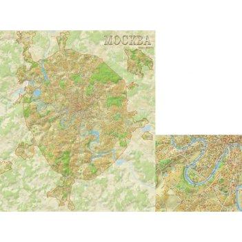 Физическая карта москвы 85 x 105 см