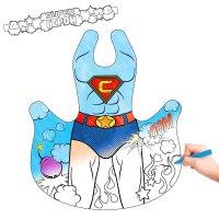Маскарадный костюм-раскраска супер герой и восковые карандаши