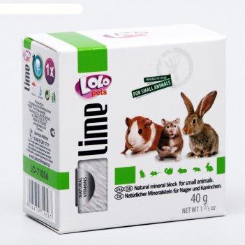 Минеральный камень для грызунов и кроликов lolo pets натуральный 40 гр