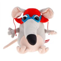 Мягкая игрушка мышка пилот
