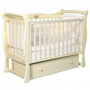 Детская кровать oliver viana, автостенка, универсальный маятник, ящик, цве