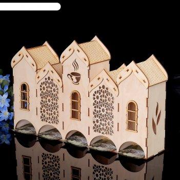Чайный домик «три замка» 8х37х23см