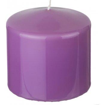 Свеча высота=10 см.диаметр=10 см.лиловая