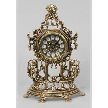 Часы из бронзы половинки амуры virtus золото 32х21см 5534