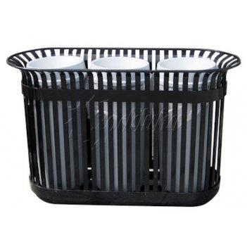 Урна для раздельного сбора мусора «вертикаль» черная