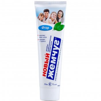 Зубная паста новый жемчуг: фтор, 100 мл