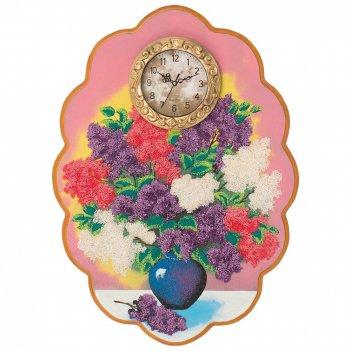 Часы с картиной сирень 48х66 см