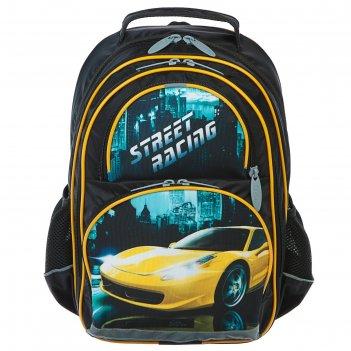 Рюкзак школьный с эргономичной спинкой, calligrata, 36 х 23 х 13, «авто»,