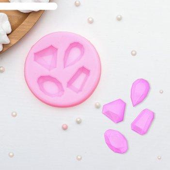 Молд силиконовый «драгоценные камни», 7,3x1 см