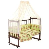 Комплект в кроватку 7 предмета сони зеленый 10704