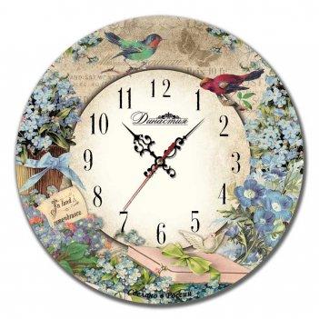 Настенные часы династия 02-017 незабудки