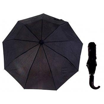 Зонт мужской полуавтомат, ветроустойчивый, ручка-крючок комбинированная, ц