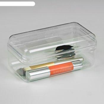 Контейнер для хранения косметических принадлежностей, с крышкой, цвет проз