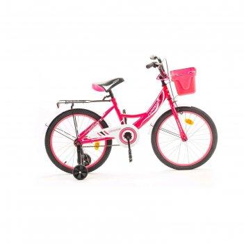 Велосипед 20 krostek wake, цвет розовый