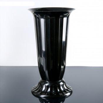Вазон с подставкой 12 л флора, h=51 см, цвет чёрный