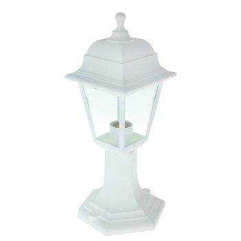 Светильник садово-парковый нту 04-60-001, четырехгранник, стойка, белый