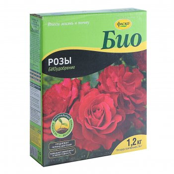 Удобрение сухое фаско био розы и цветущие многолетники, гранулированное, 1