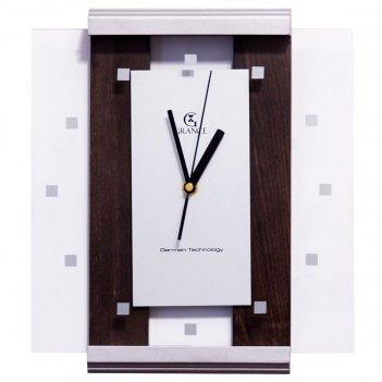 Настенные часы с-02  венге - сильвер 310х270х40 мм