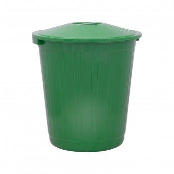 Бак с крышкой 80л зеленый