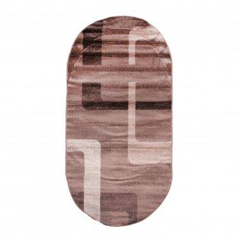 Овальный ковёр omega hitset f579, 2.5 х 4.5 м, цвет bone-beige