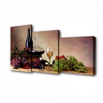 Модульная картина на подрамнике натюрморт, 26x50 см, 26x40 см, 26x32 см, 5