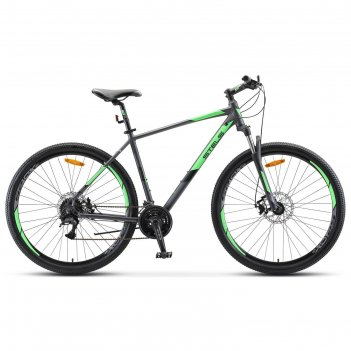Велосипед 29 stels navigator-920 md, v010, цвет антрацитовый/зелёный, разм
