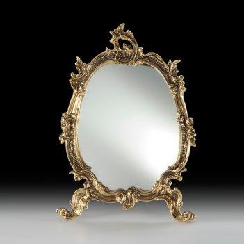 Зеркало настольное в бронзовой оправе цветы