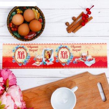 Пасхальный ободок для кулича «композиция с куличом», 32.2 x 9 см