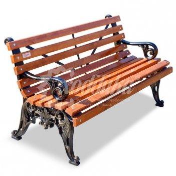 Скамейка чугунная «белые ночи» с подлокотниками