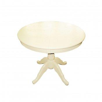 Стол раскладной круглый, 920/1270х920, крем