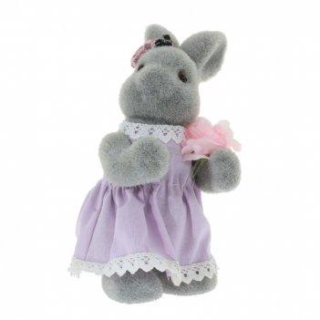 Фигурка декоративная заяц,  l13 w13 h22 см
