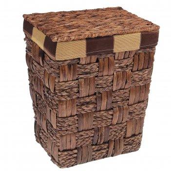 Корзина для белья плетеная, прямоугольная 35х26х43 см клетка
