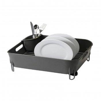 Сушилка для посуды bianka, нержавеющая сталь, 51 х 33 х 17 см, цвет серый