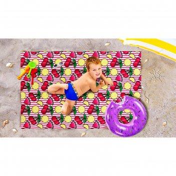 Пляжное покрывало «ягодный морс», размер 90 x 140 см