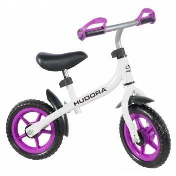Беговел hudora laufrad bikey 3.0 girl, 10, цвет бело-фиолетовый