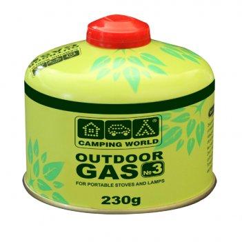 381858 баллон газовый camping world outdoor (резьбовой, клананный, 230 г)
