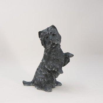 Статуэтка из металла  собачка  (gi-1451)