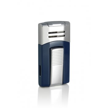 Зажигалка caseti газовая турбо, хромированная + синий лак 6,7*
