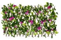 Декоративное ограждение гибискус фиолетовый 220x45 см