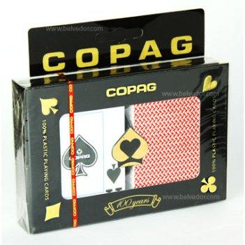 Карты для покера copag (100% пластик, набор из 2-х колод)