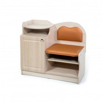 Банкетка №1, 850х430х920, ясень/оранжевый(120)