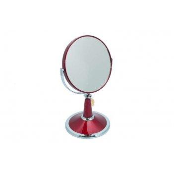 Зеркало* b6209 ruby/c red настольное 2-стор. 5-кр.ув.15 см.