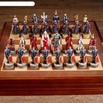 Шахматы сувенирные монгольское иго (доска 36х36х6 см, король h=8 см, пешка