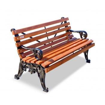 Скамейка чугунная «белые ночи» с подлокотниками 2,0 м (три опоры)