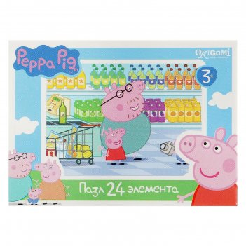 Пазл свинка пеппа, 24 элемента, микс