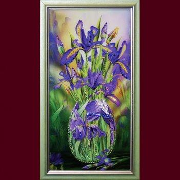 Картина сваровски - букет ирисов малая